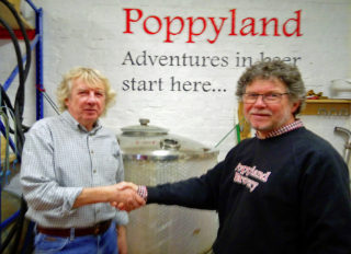 Dave Cornell, left, and Martin Warren, right, in the Poppyland Brewery, Cromer