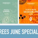 Zerodegrees specialty beers June 2019